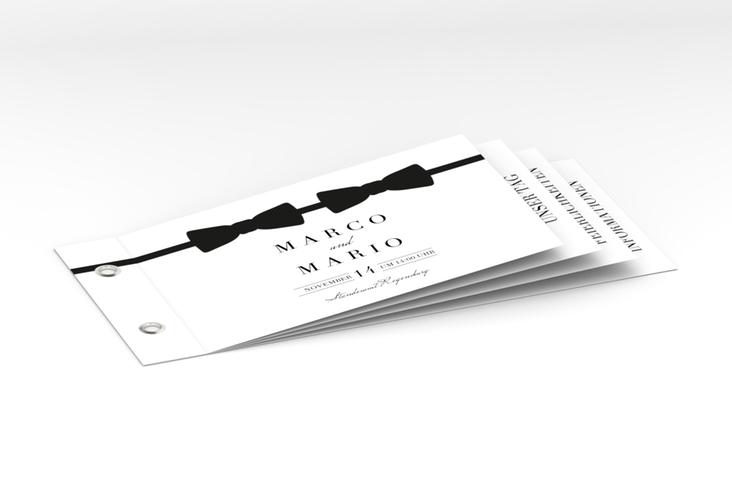 """Hochzeitseinladung """"Suits"""" Booklet"""