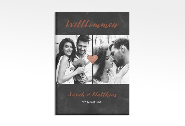 """Willkommensschild Hochzeit """"Sparkly"""" 50 x 70 cm Leinwand braun"""