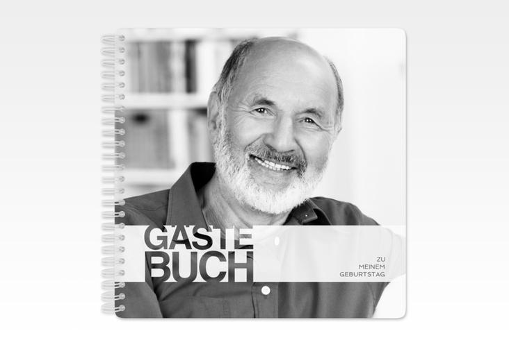 "Gästebuch Geburtstag ""Banderole"" Ringbindung weiss"
