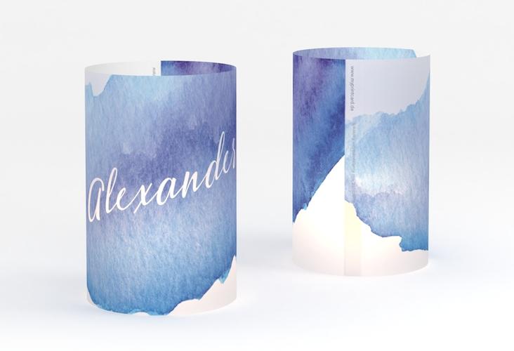 """Windlicht Hochzeit """"Aquarella"""" Windlicht blau"""