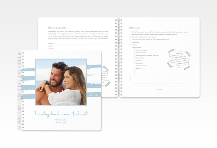 """Trautagebuch Hochzeit """"Mare"""" Trautagebuch Hochzeit blau"""
