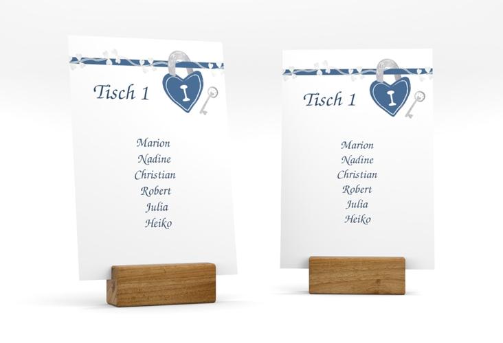 """Tischaufsteller Hochzeit """"Oviedo"""" Tischaufsteller blau"""