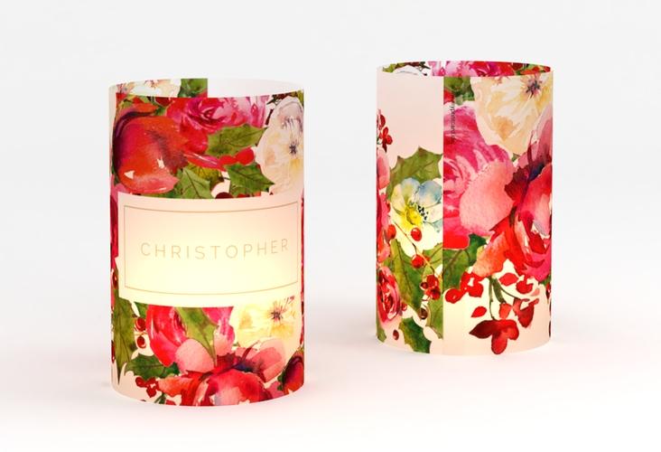 """Windlicht Hochzeit """"Blumenpracht"""" Windlicht weiss"""