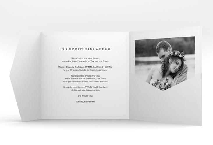 """Hochzeitseinladung """"Photoframe"""" Pocketfold"""