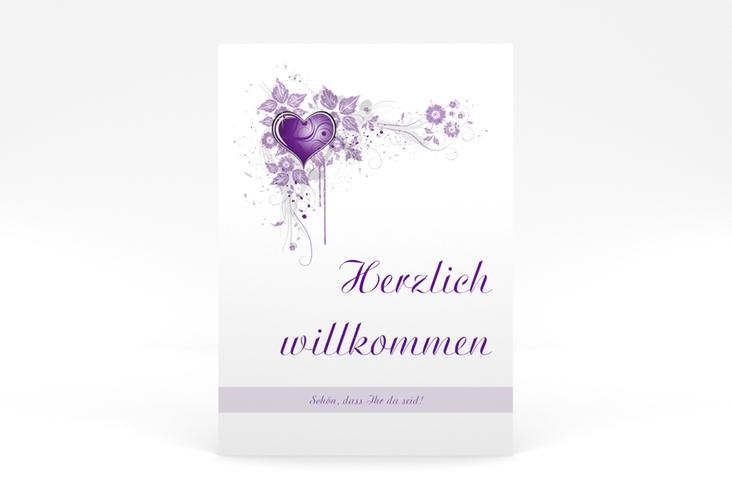 """Willkommensschild Poster """"Triest"""" 50 x 70 cm Poster lila"""