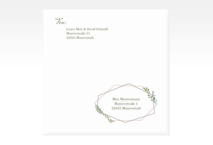 """Kuvert quadratisch """"Herbarium"""" Quadratisch rosa"""