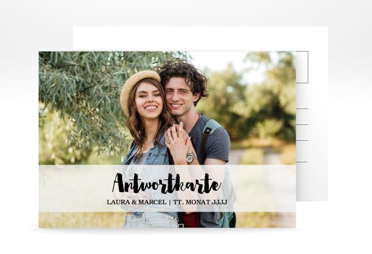 """Antwortkarte Hochzeit """"Mirage"""" A6 Postkarte weiss"""