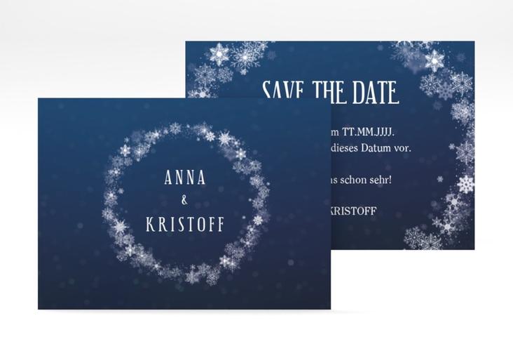 "Save the Date-Visitenkarte ""Winterdream"" Visitenkarte"