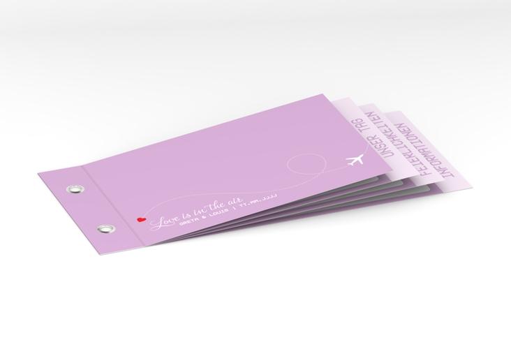 """Hochzeitseinladung """"Weddingpass"""" Booklet flieder"""