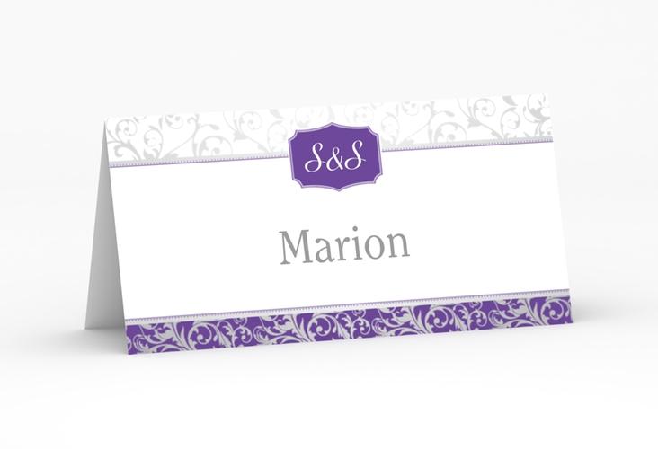 """Tischkarte Hochzeit """"Latina"""" Tischkarten lila"""