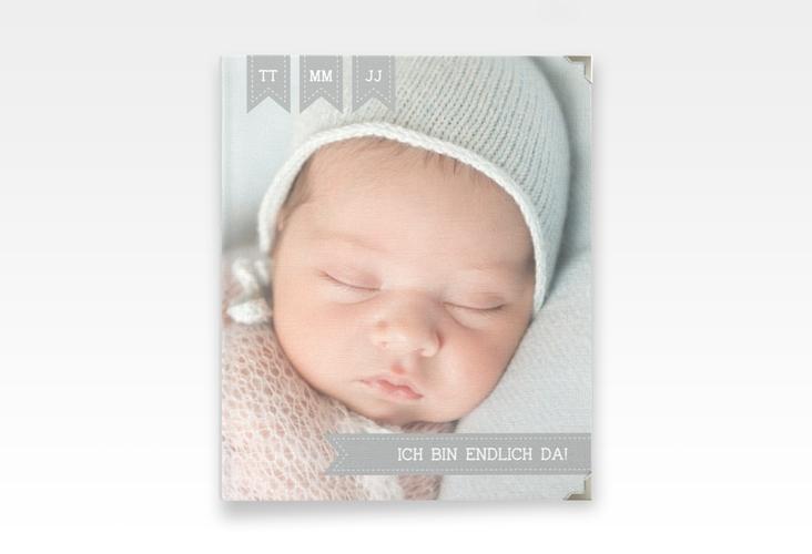 "Baby Fotoalbum ""Kinderlachen"" 21 x 25 cm grau"