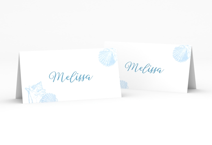 """Tischkarte Hochzeit """"Muschelreich"""" Tischkarten"""