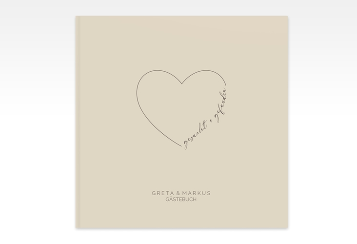"""Gästebuch Creation Hochzeit """"Lebenstraum"""" 20 x 20 cm, Hardcover beige"""