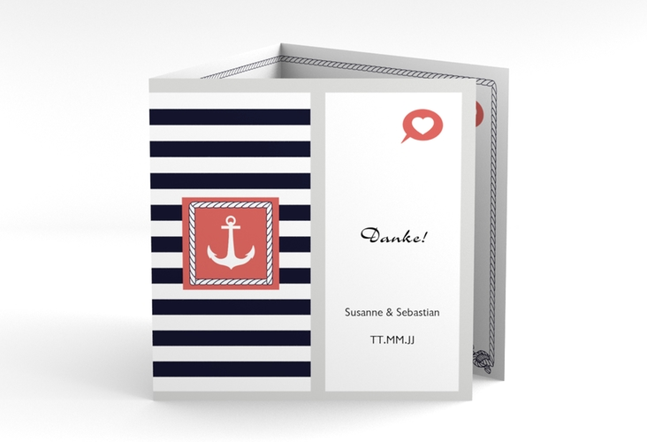"Dankeskarte Hochzeit ""Girona"" Quadr. Karte doppelt"