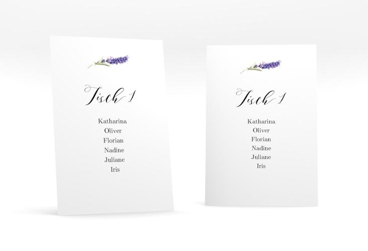 """Tischaufsteller Hochzeit """"Lavendel"""" Tischaufsteller"""