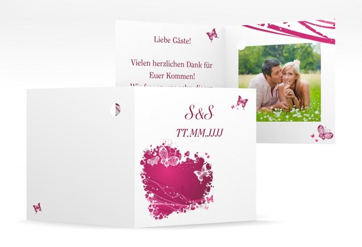 """Geschenkanhänger Hochzeit """"Mailand"""" Geschenkanhänger 10er Set pink"""