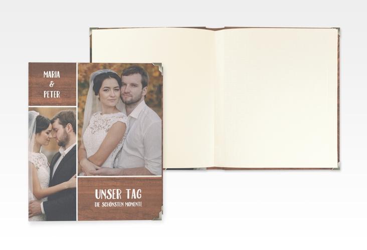 """Hochzeitsalbum """"Landliebe"""" 21 x 25 cm braun"""