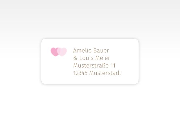 """Absenderetikett Hochzeit """"Couple"""" 45,7 x 21,2 mm"""