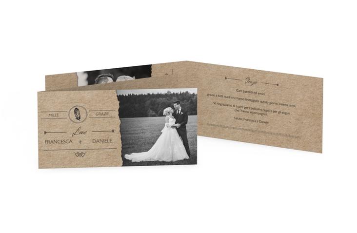 Ringraziamenti matrimonio collezione Colorado DIN lang Klappkarte