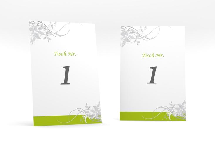 """Tischnummer Hochzeit """"Florenz"""" Tischaufsteller gruen"""