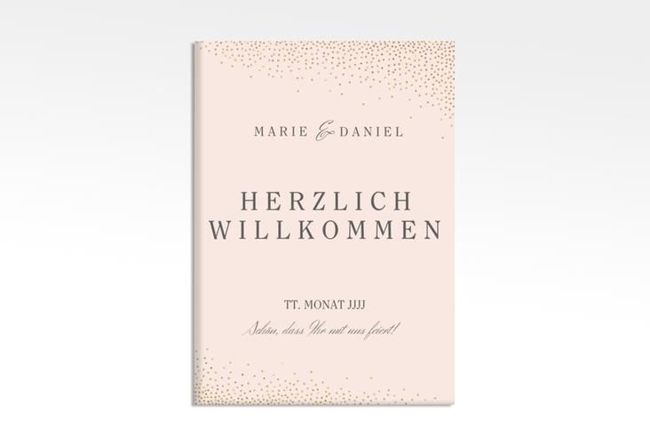 """Willkommensschild Leinwand """"Glitter"""" 50 x 70 cm Leinwand rosa"""