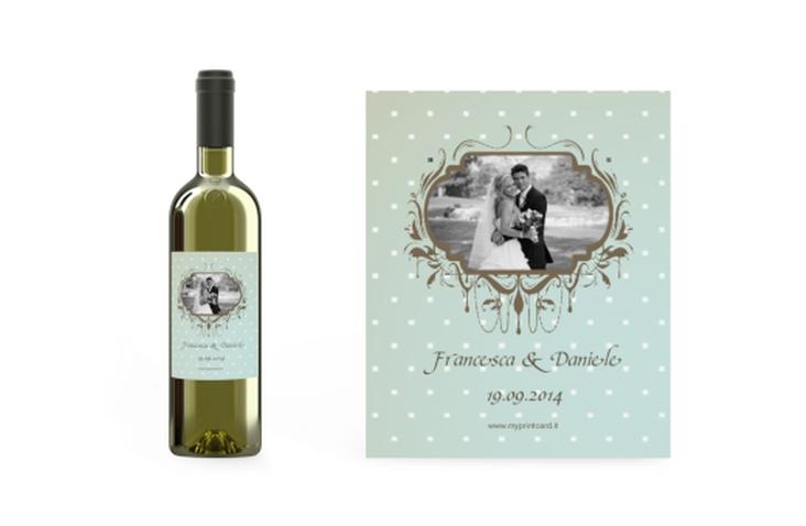 Etichette vino matrimonio collezione Ferrara Etikett Weinflasche 4er Set