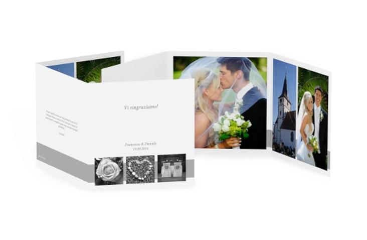 Ringraziamenti matrimonio collezione Marseille Quadr. Karte doppelt