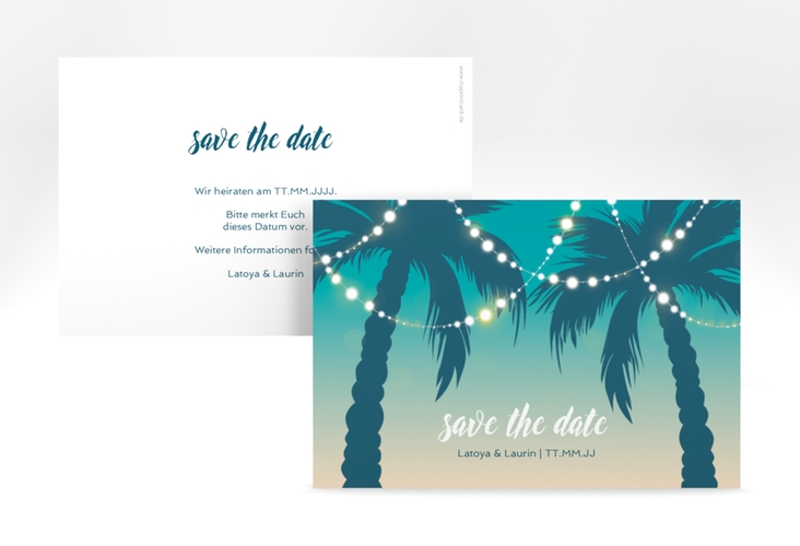 "Save the Date-Karte ""Beach"" A6 quer"