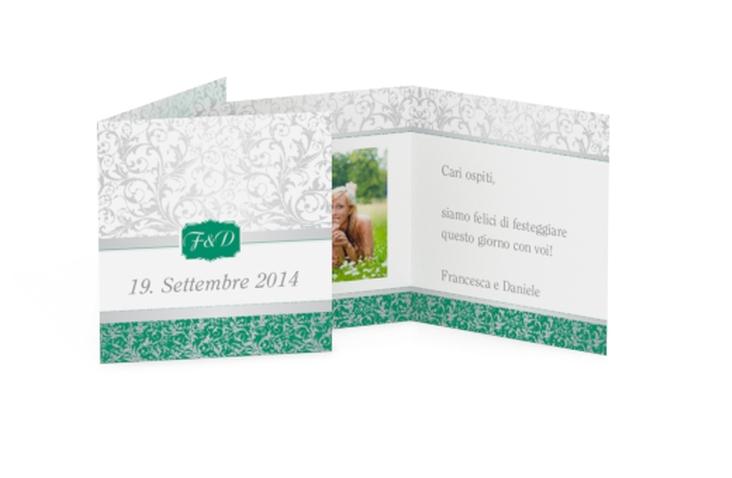 Biglietti Bomboniera matrimonio collezione Latina Geschenkanhänger 10er Set verde