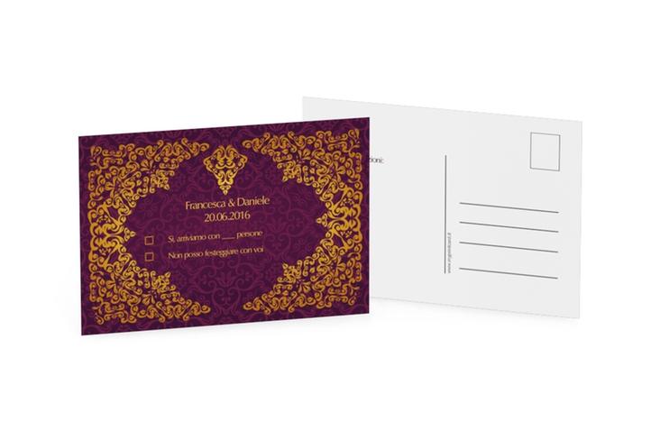 Biglietti risposta matrimonio collezione Istanbul A6 Postkarte