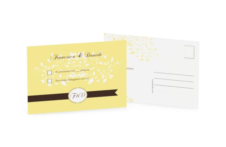 Biglietti risposta matrimonio collezione Malaga A6 Postkarte giallo