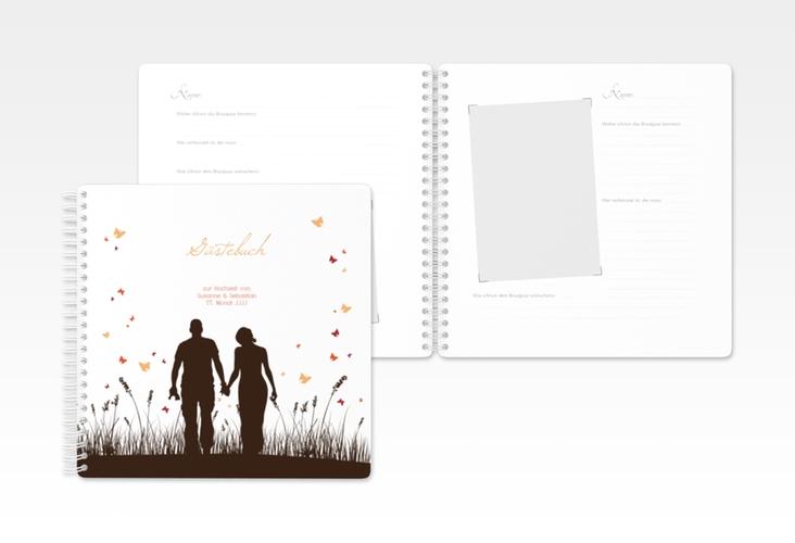 "Gästebuch Hochzeit ""Rouen"" Ringbindung braun"
