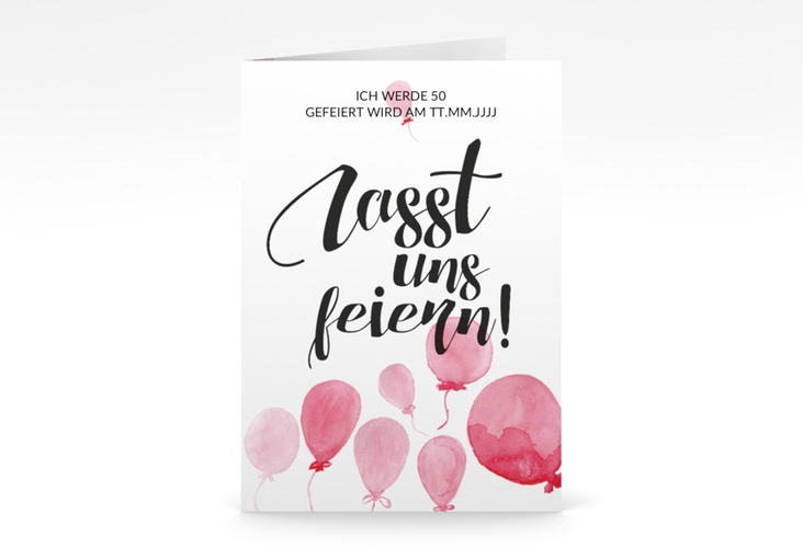 "Einladungskarte ""Ballon"" A6 Klappkarte"