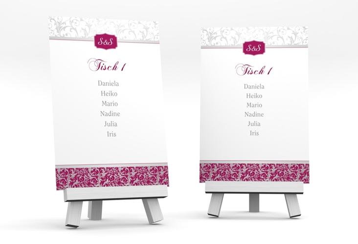 """Tischaufsteller Hochzeit """"Latina"""" Tischaufsteller pink"""