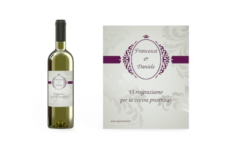 Etichette vino matrimonio collezione Farfa Etikett Weinflasche 4er Set