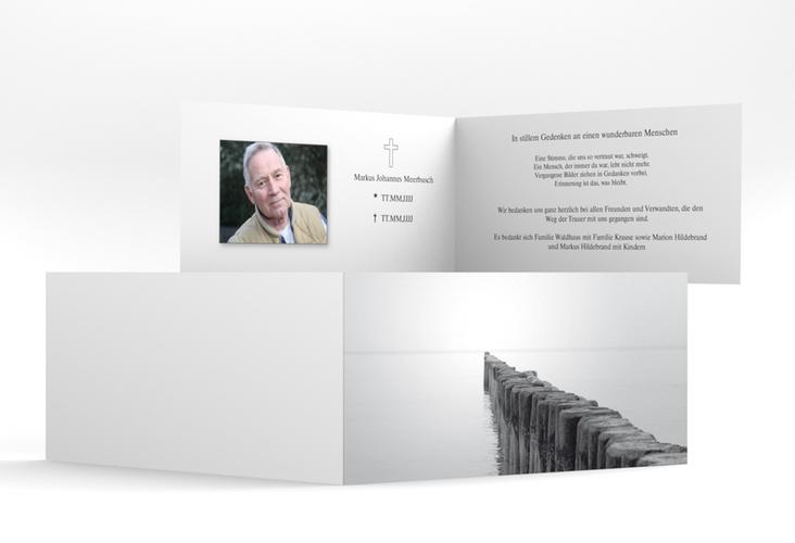 "Danksagungskarte Trauer ""Steg"" DIN lang Klappkarte"