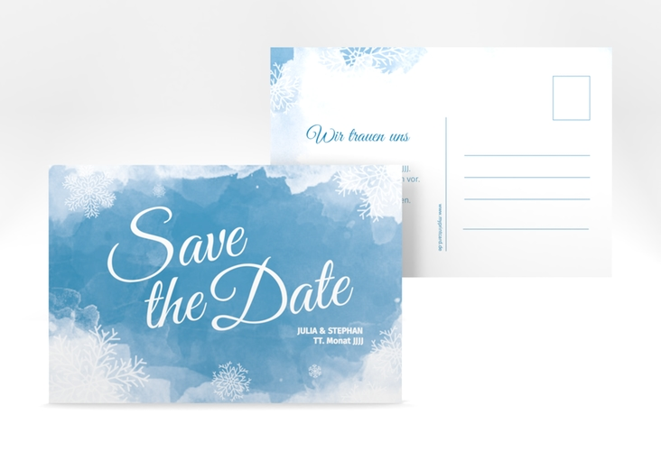"Save the Date-Postkarte ""Frozen"" A6 Postkarte"