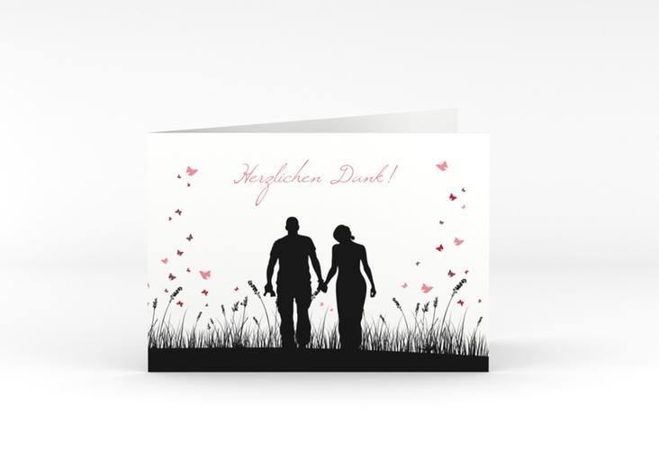 "Danksagungskarte Hochzeit ""Rouen"" A6 Klappkarte Quer"