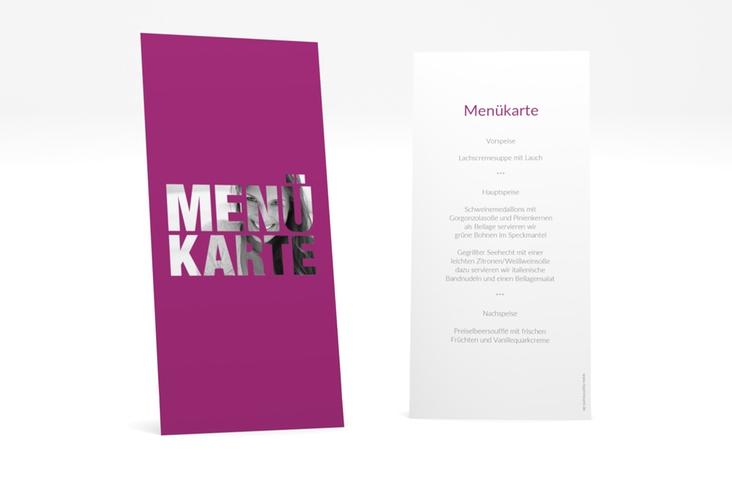 """Menükarte Geburtstag """"Numbers"""" DIN lang hoch pink"""