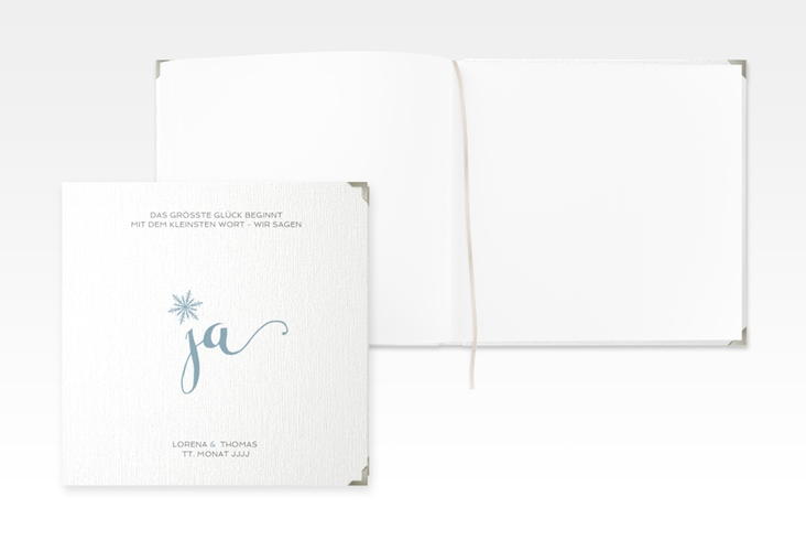 """Gästebuch Selection Hochzeit """"Snowflake"""" Leinen-Hardcover"""