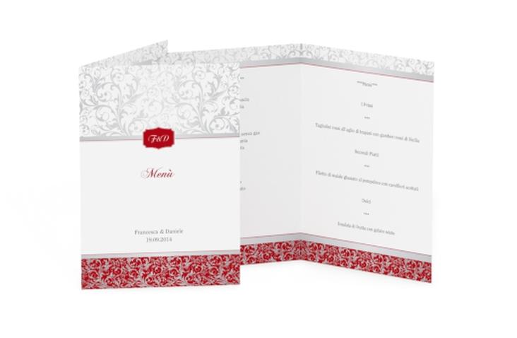 Menù matrimonio collezione Latina DIN A5 geklappt rosso