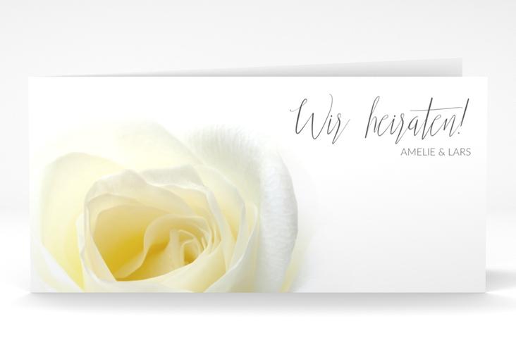 """Hochzeitseinladung """"Rose"""" DIN lang Klappkarte"""