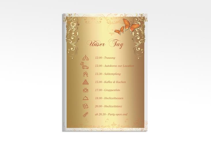 "Tagesablauf Leinwand Hochzeit ""Toulouse"" 50 x 70 cm Leinwand orange"