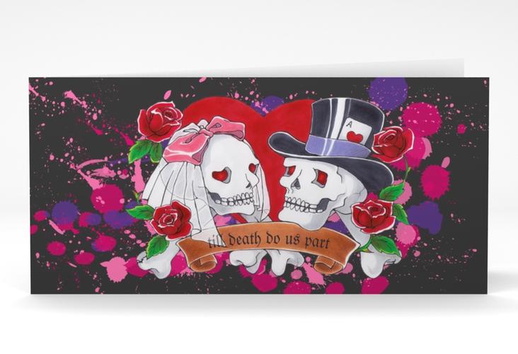 """Einladungskarte Hochzeit """"Palermo"""" DIN lang Klappkarte"""