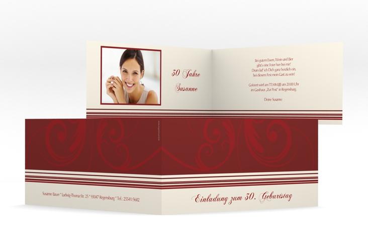 "Einladungskarte ""Katharina"" DIN lang Klappkarte"