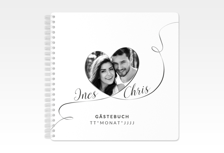"Gästebuch Hochzeit ""Dolce"" Ringbindung weiss"