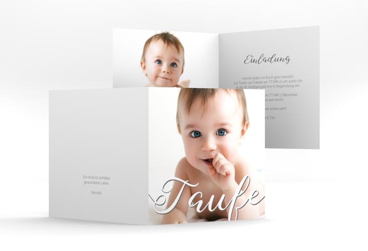 """Einladung Taufe """"Charming"""" Quadratische Klappkarte"""