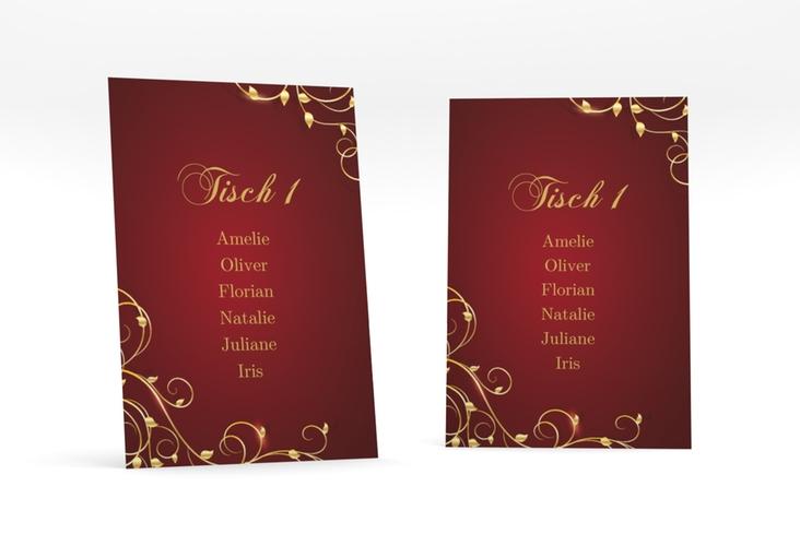 """Tischaufsteller Hochzeit """"Eternity"""" Tischaufsteller rot"""
