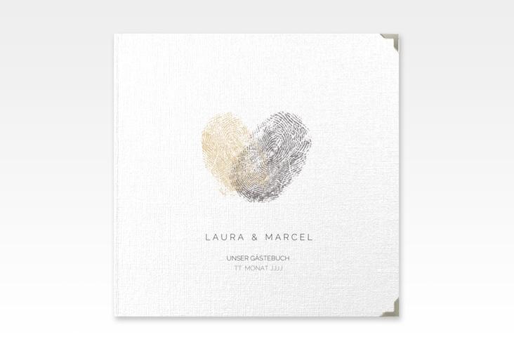 "Gästebuch Selection Hochzeit ""Fingerprint"" Hardcover beige"