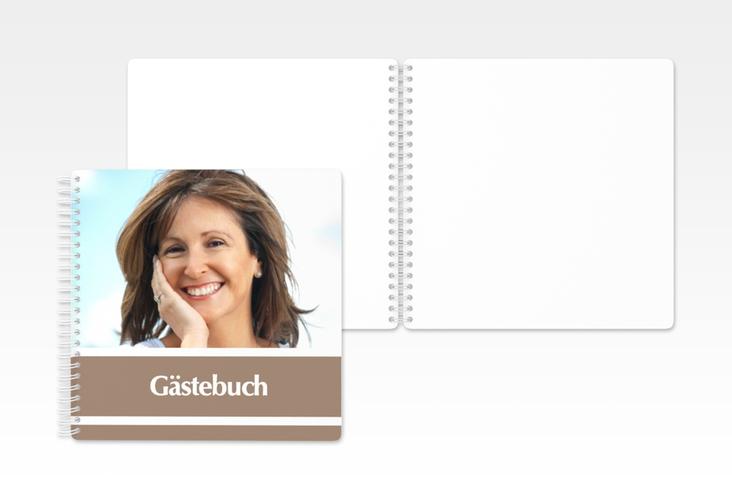 """Gästebuch Geburtstag """"Gerd/Gerda"""" Ringbindung braun"""